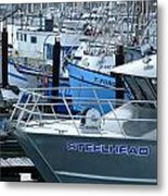 Steelhead And Fishing Boats Metal Print
