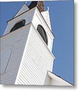 Steeple On St. Joseph's Catholic Mission Church Metal Print