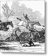 Steeplechase, 1845 Metal Print