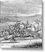 Steeplechase, 1863 Metal Print
