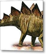 Stegosaurus Armatus, A Prehistoric Era Metal Print
