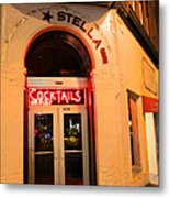 Stella Cocktail Bar At Night Metal Print