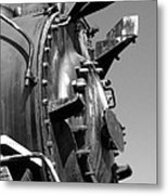 Steme Engine Front Black And White Metal Print