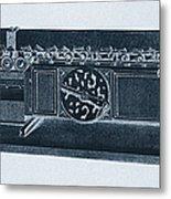 Step Reckoner, Leibniz Mechanical Metal Print