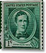 Stephen Collins Foster Postage Stamp Metal Print