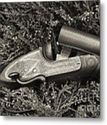 Stephen Grant And Sons Side Lever Twelve Bore - D003359-bw Metal Print