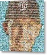 Stephen Strasburg Card Mosaic Metal Print
