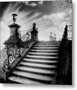 Steps At Chateau Vieux Metal Print by Simon Marsden