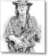 Stevie's Blues Metal Print by David Lloyd Glover