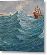 Still Afloat But Different Direction And Purpose Metaphorically Speaking  Metal Print