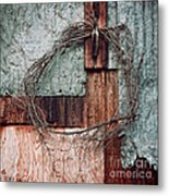 Still Decorated With A Wreath Metal Print