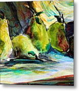 Still Life Of Pears Metal Print by Mindy Newman