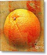Still Life Orange Abstract Metal Print