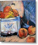 Still Life Peaches Metal Print