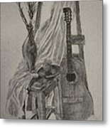 Still Life With A Guitar Metal Print