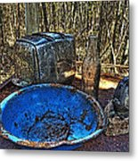 Still Life With Blue Plate Special Metal Print