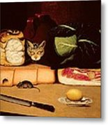 Still Life With Cat And Mouse Metal Print