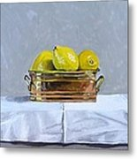 Still Life With Copper And Lemons Metal Print