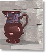 Still Life With Copper Luster Jug Metal Print by Sarah Countiss