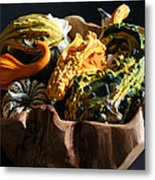 Still Life With Gourds Metal Print