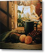 Still Life With Hopper Metal Print