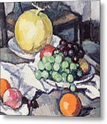 Still Life With Melons And Grapes Metal Print by Samuel John Peploe