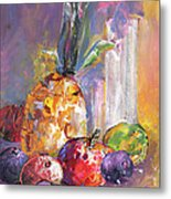 Still Life With Pineapple Metal Print