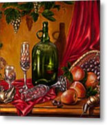 Still Life With Snails Metal Print
