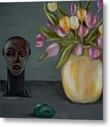 Still life with tulips Metal Print