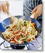 Stir Fry Metal Print by David Munns