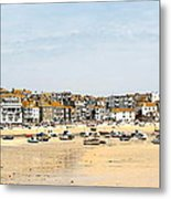 St.ives Bay.cornwall Metal Print by Karen Grist