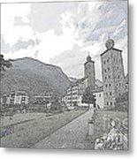 Stockalper Castle Metal Print
