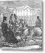 Stockholm: Sleighing, 1850 Metal Print