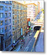 Stockton Street Tunnel In Heavy Shadow Metal Print