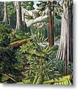 Stoltman Old Growth Forest Landscape Painting Metal Print