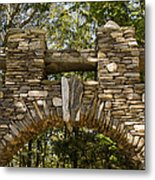 Stone Archway At The Entrance Metal Print by Todd Gipstein