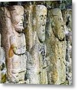 Stone Carving Figures Metal Print