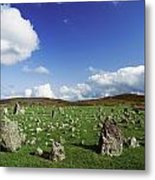 Stone Circles On A Landscape, Beaghmore Metal Print