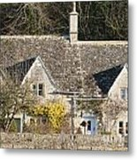 Stone Cottages Metal Print