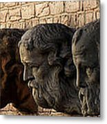 Stone Faces Metal Print
