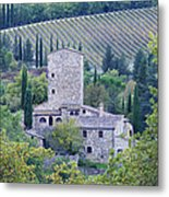 Stone Farmhouse Near Montefioralle Metal Print by Jeremy Woodhouse