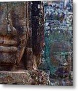Stone Heads At Bayon Temple Metal Print