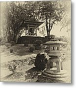 Stone Lantern And Temple Bell Metal Print