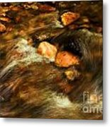 Stone Mountain River Rocks Metal Print