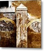Stone Sight - Two Arches And A Column Draws A Disturbing Almost Human Face Metal Print