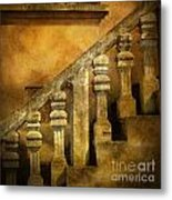 Stone Stairs And Balustrade. Metal Print by Bernard Jaubert