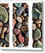 Stone Triptych 3 Metal Print