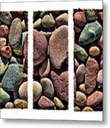 Stone Triptych Metal Print