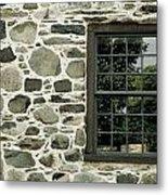Stone Wall With A Window Metal Print