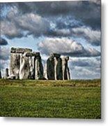 Stonehenge Landscape Metal Print